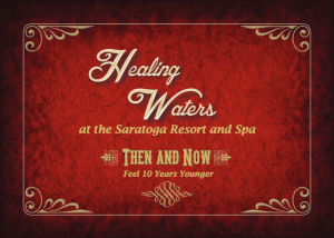 Healing Waters Spa - Saratoga Resort and Spa