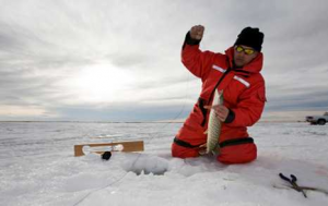 Ice Fishing, Saratoga Resort
