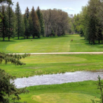 Saratoga golf course with over river shot
