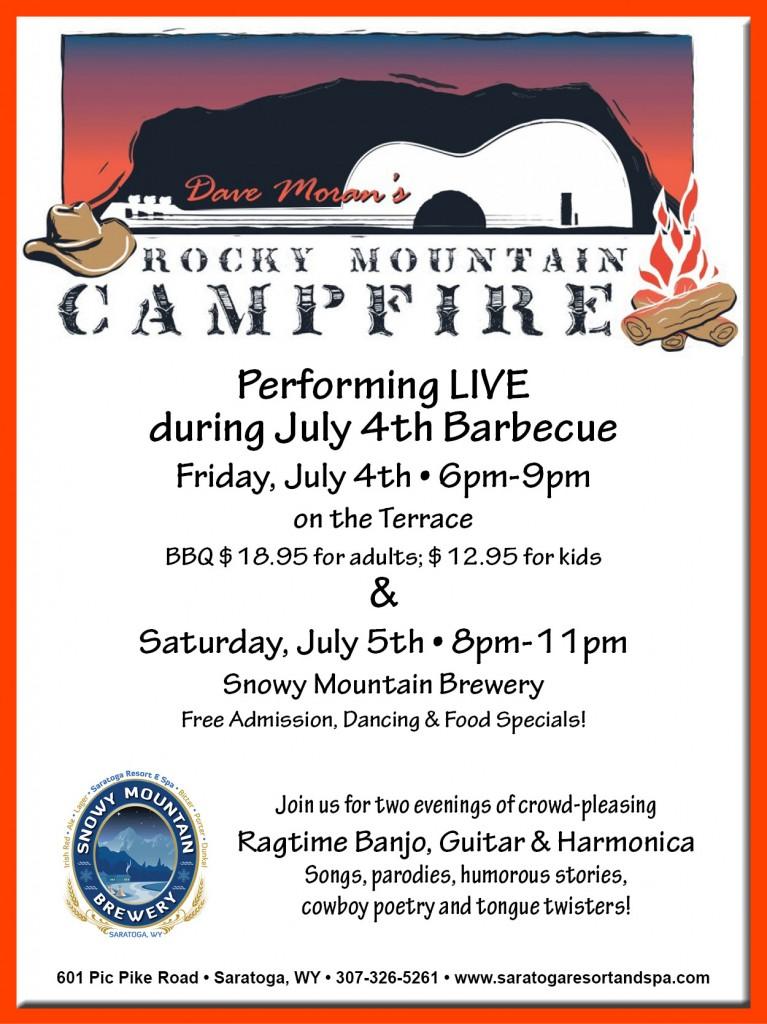 Dave Moran's Rocky Mounatin Camp Fire at Saratoga