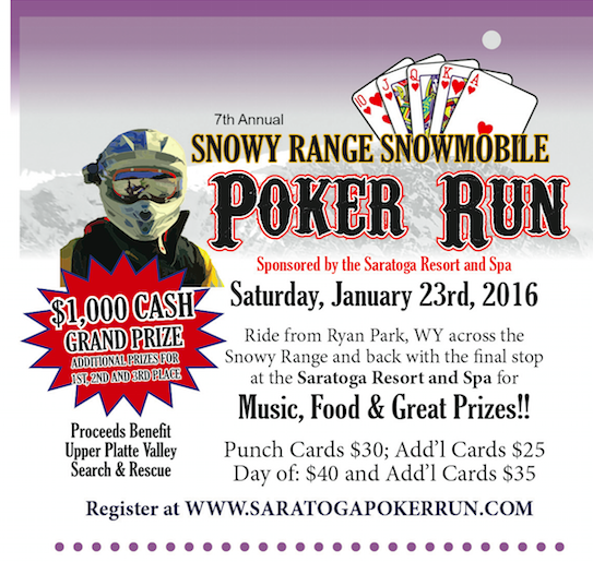 The 7th Annual Snowy Range Snowmobile Poker Run