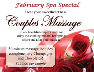 February 2016 Spa Specials at the Healing Waters Spa