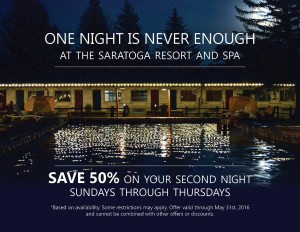 One Night is Never Enough at Saratoga Resort and Spa