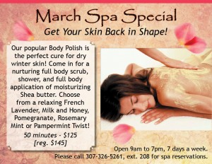 Get Your Skin Back in Shape with the Healing Waters Spa March Spa Special!