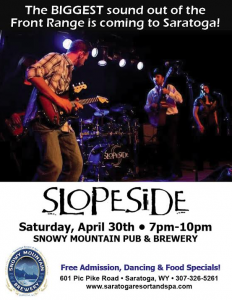 Slopeside LIVE Snowy Mountain Pub & Brewery.