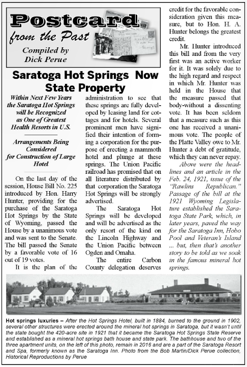 Saratoga Resort and Spa Hot Springs Property of the State