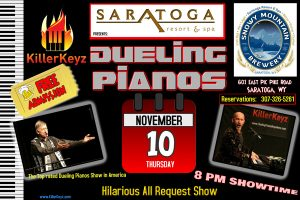 Killer Keyz by Dueling Pianos Anywhere to Perform at Saratoga Resort and Spa