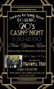 Maxwell Mud to Headline Roaring 20's NYE Casino Night at Saratoga Hot Springs Resort!
