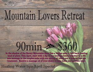 Healing Water Spa April Special