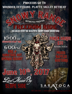 Snowy Range Motorcycle Poker Run Freedom Ride