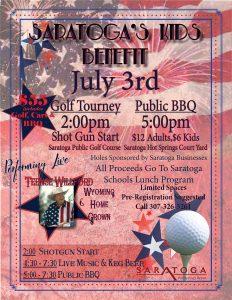 July 15, 2017 — Saratoga's Kids Benefit Golf Tournament