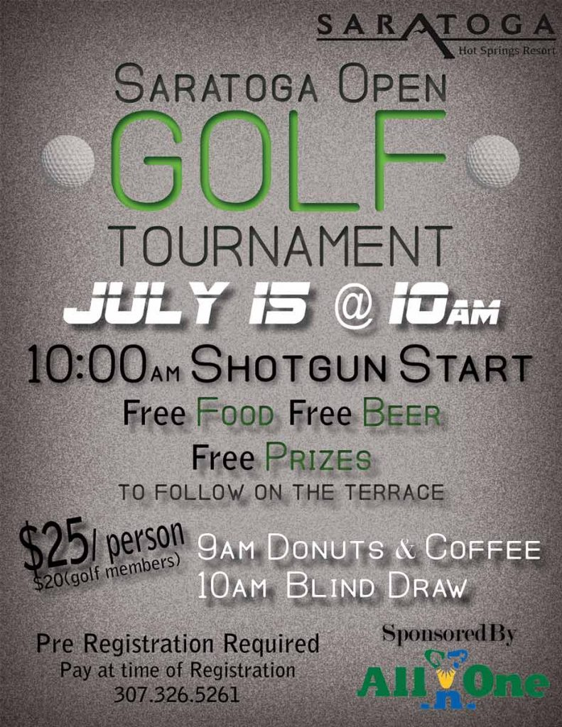 July 15, 2017: Saratoga Open Golf Tournament