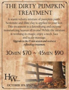The Dirty Pumpkin Treatment: Healing Waters Spa October Special — Saratoga, Wyoming