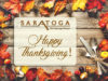 Happy Thanksgiving 2017 | Saratoga Hot Springs Resort