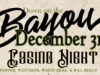 New Year's Eve | Down on the Bayou – Surf & Turf Dinner and Casino Night