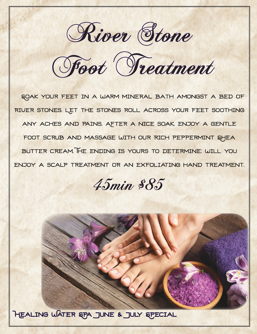 June & July Foot Treatment Special